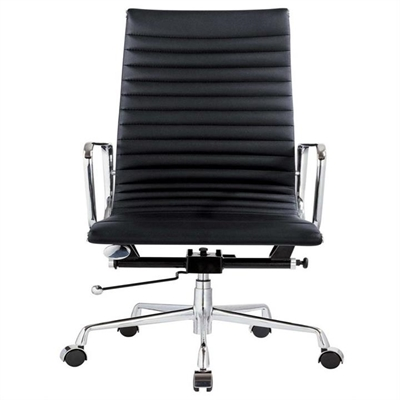 Executive Eames Replica Leather Office Chair - Black Premium by Conception Living, a Chairs for sale on Style Sourcebook