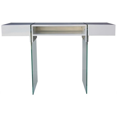 Zell High Gloss 160cm Console Table with Glass Legs
