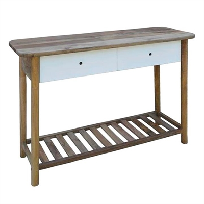Hanston Solid Mango Wood Timber 110cm Console Table