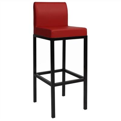 Dublin V2 Commercial Grade Vinyl Upholstered Steel Bar Stool - Red