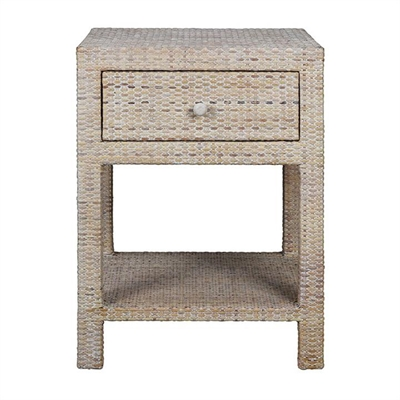 Savannah Rattan Bedside Table - White Wash by COJO Home, a Bedside Tables for sale on Style Sourcebook