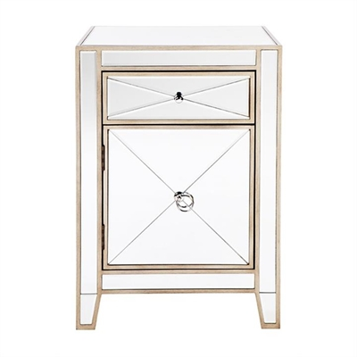 Apolo Mirrored Bedside Table, Antique Gold by Cozy Lighting & Living, a Bedside Tables for sale on Style Sourcebook