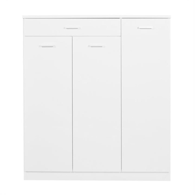 Adrian 3 Doors 1 Drawer Shoe Cabinet - White by OTSGN Imports, a Shoe Organisers for sale on Style Sourcebook