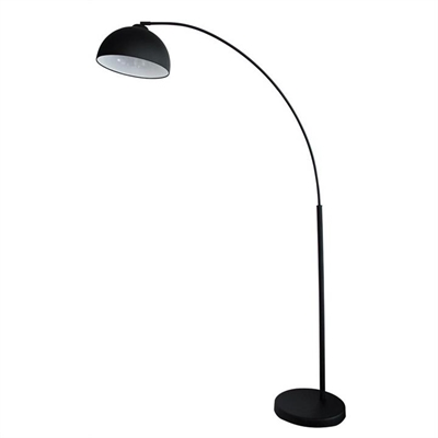 Dome Metal Arc Floor Lamp, Black by Oriel Lighting, a Floor Lamps for sale on Style Sourcebook