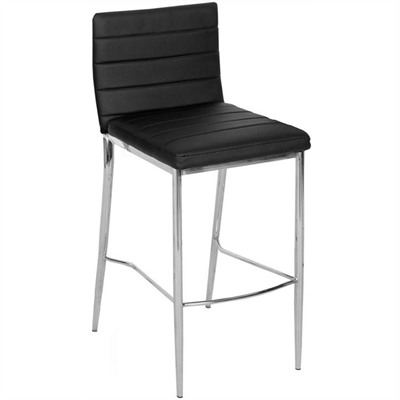 Neptune PU Leather Metal Bar Stool, Black by Brighton Home, a Bar Stools for sale on Style Sourcebook