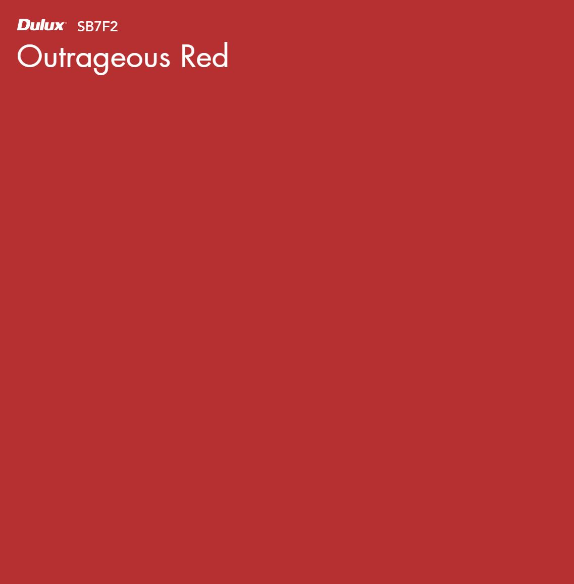 Outrageous Red by Dulux, a Reds for sale on Style Sourcebook