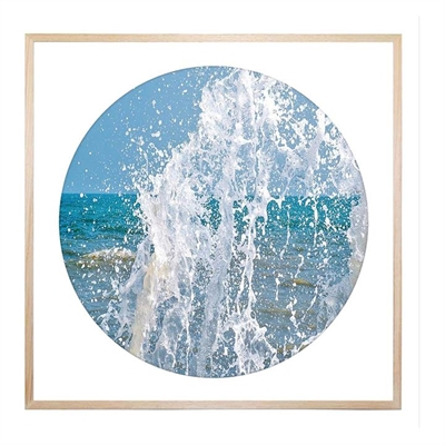 Great Splash Round Framed Print by United Interiors, a Prints for sale on Style Sourcebook