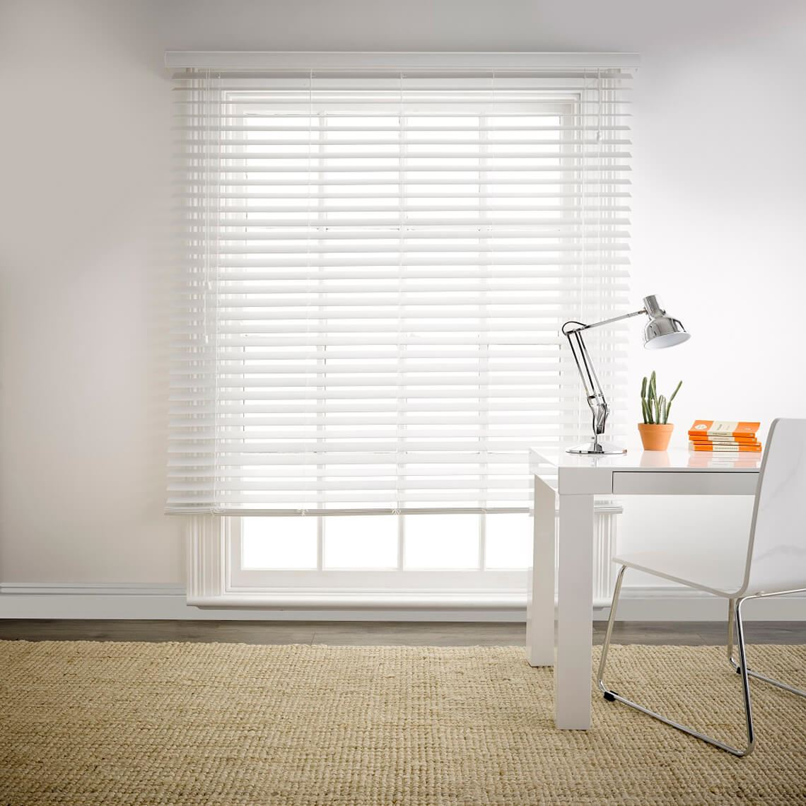Beaumont Privacy Blind Size W 210cm x D 6cm x H 210cm in White Polyvinyl chloride Freedom by Freedom, a Curtains for sale on Style Sourcebook