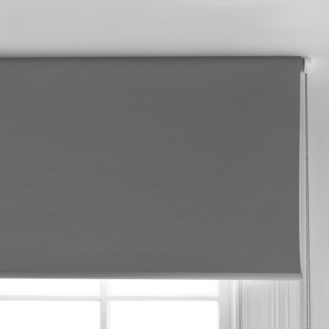Ashcroft Blockout Roller Blind Size W 60cm x D 0cm x H 210cm in Charcoal 100% Polyester Freedom by Freedom, a Curtains for sale on Style Sourcebook