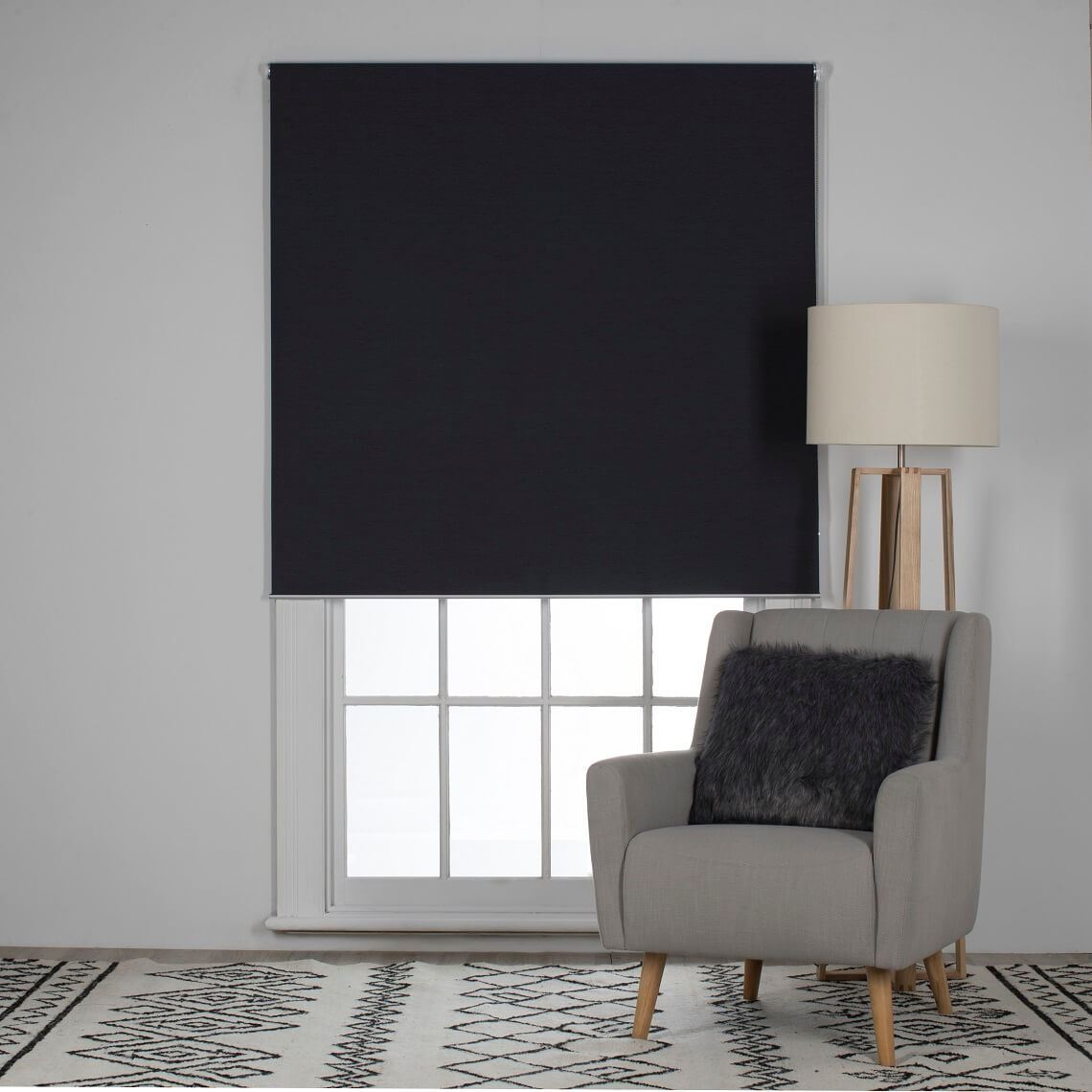 Trenton Blockout Roller Blind Size W 90cm x D 0cm x H 210cm in Gunmetal 100% Polyester Freedom by Freedom, a Curtains for sale on Style Sourcebook