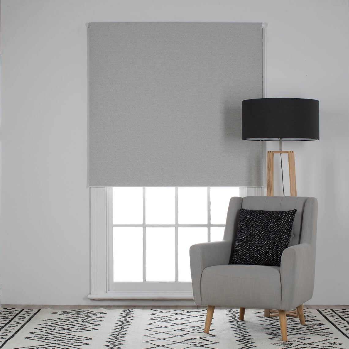 Trenton Blockout Roller Blind Size W 180cm x D 0cm x H 210cm in Shale 100% Polyester Freedom by Freedom, a Curtains for sale on Style Sourcebook