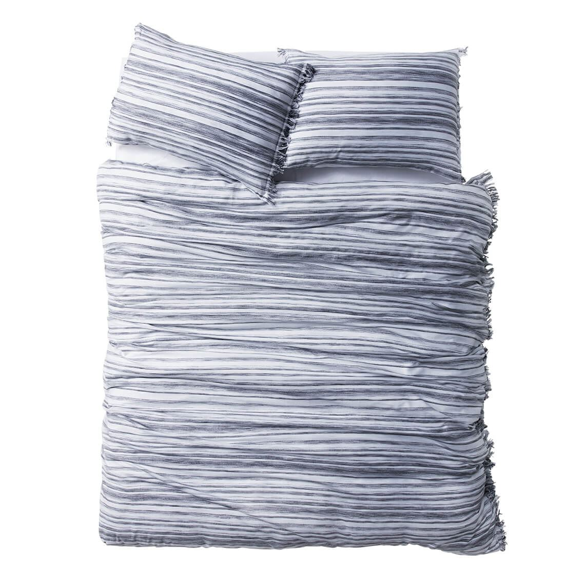 Space Dyed Texture King Quilt Cover Size W 245cm x D 1cm x H 210cm in Navy/Grey Freedom by Freedom, a Quilts & Bedspreads for sale on Style Sourcebook