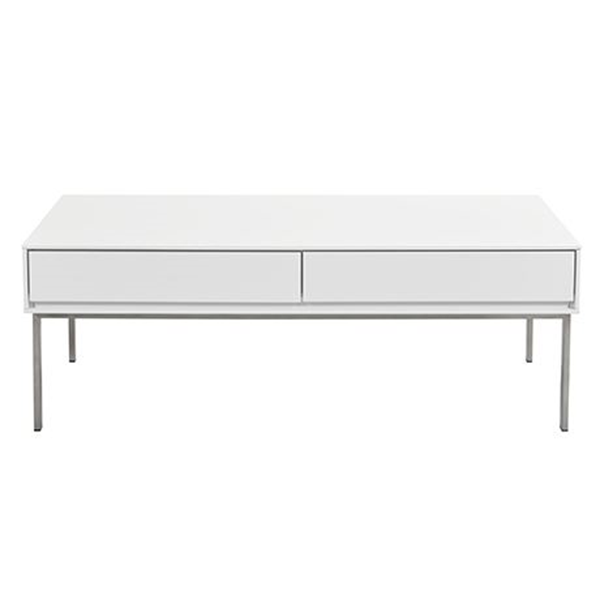 Signature Essentials 2 Drawer Coffee Table Size W 120cm x D 60cm x H 45cm in White Mdf/Steel Freedom by Freedom, a Coffee Table for sale on Style Sourcebook