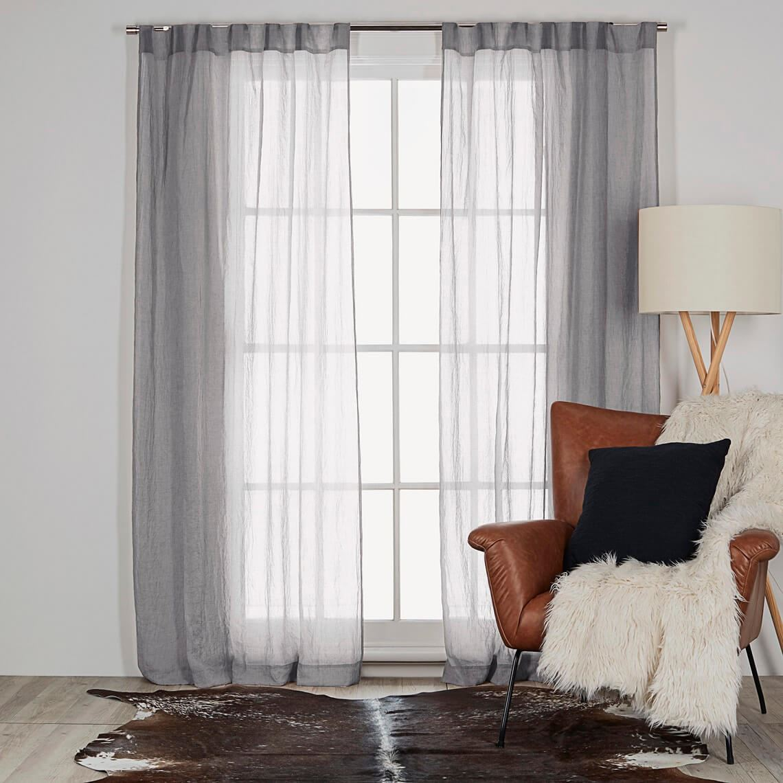 Angus Tab Curtain Size W 140cm x D 0cm x H 230cm in Silver 100% Polyester Freedom by Freedom, a Curtains for sale on Style Sourcebook