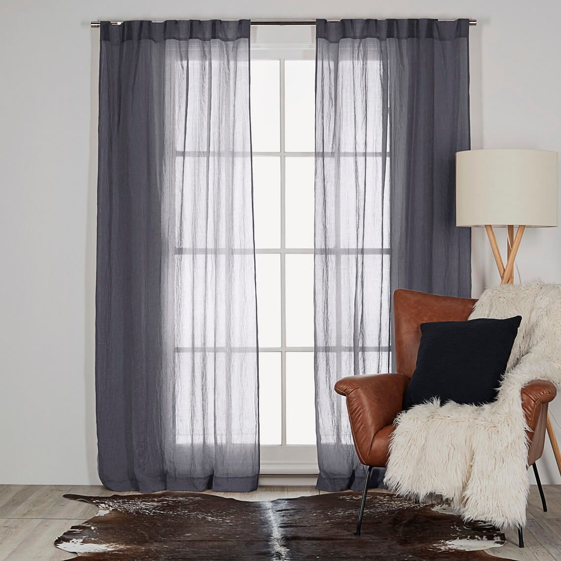 Angus Tab Curtain Size W 140cm x D 0cm x H 230cm in Denim 100% Polyester Freedom by Freedom, a Curtains for sale on Style Sourcebook