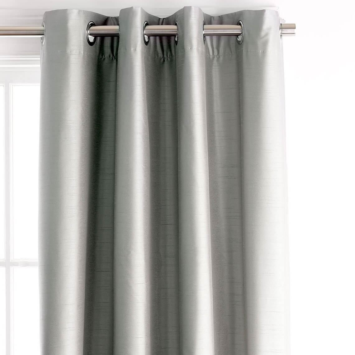 Aberdeen Blockout Eyelet Curtain Size W 180cm x D 0cm x H 250cm in Silver 100% Polyester/Acrylic Flock Coating/Stainless Steel Freedom by Freedom, a Curtains for sale on Style Sourcebook