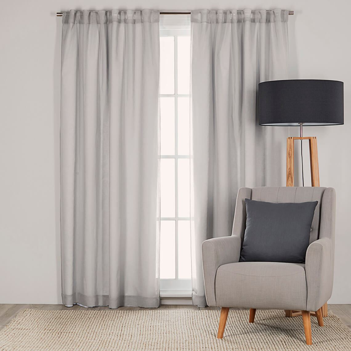 Curtain Liner Size W 140cm x D 0cm x H 225cm in White 100% Polyester/Stainless Steel Freedom by Freedom, a Curtains for sale on Style Sourcebook
