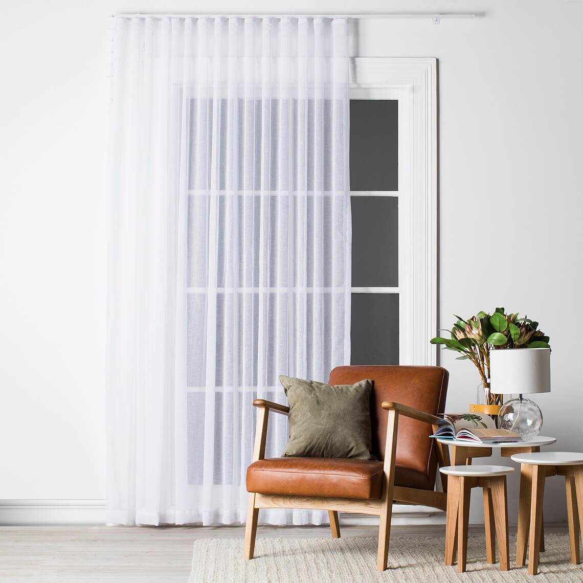 Mineral Sheer S Fold Curtain Size W 325cm x D 0cm x H 280cm in White 100% Polyester Freedom by Freedom, a Curtains for sale on Style Sourcebook