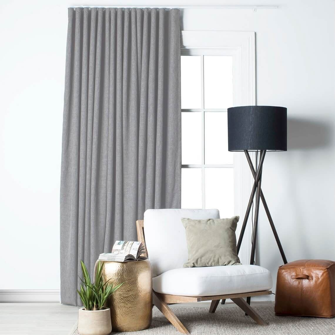 Lyndon Blockout S Fold Curtain Size W 360cm x D 1cm x H 280cm in Silver 100% Polyester Freedom by Freedom, a Curtains for sale on Style Sourcebook