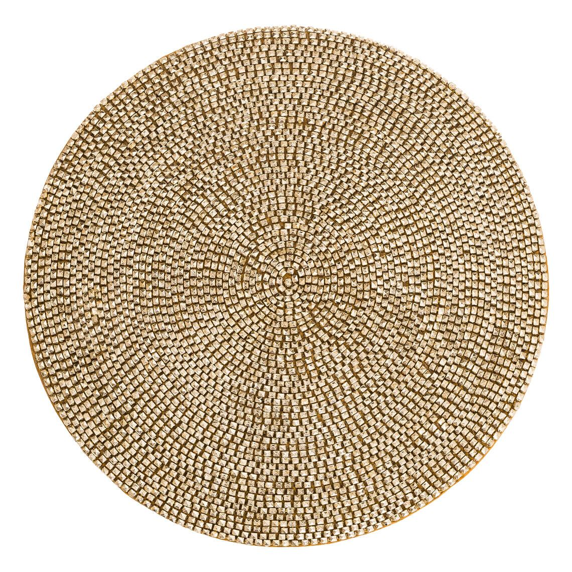 Eldora Placemat Size W 30cm x D 30cm x H 1cm in Gold Bead/Satin/Board Freedom by Freedom, a Placemats for sale on Style Sourcebook