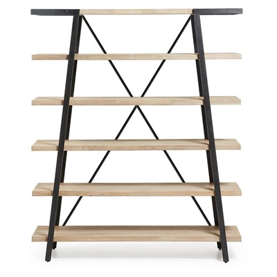 Detroit Solid Acacia Timber and Metal Bookshelf by El Diseno, a Bookshelves for sale on Style Sourcebook