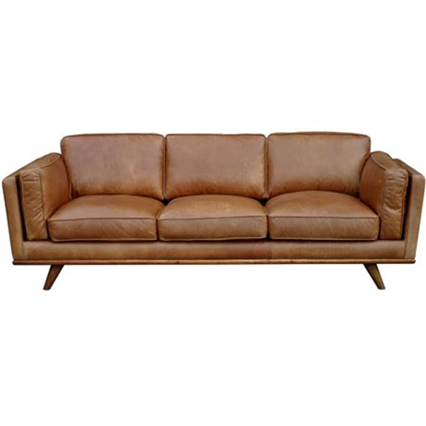 Dahlia 3 Seat Leather Sofa Size W 229cm x D 93cm x H 82cm in Tan Leather/Foam/Fibre Freedom by Freedom, a Sofas for sale on Style Sourcebook