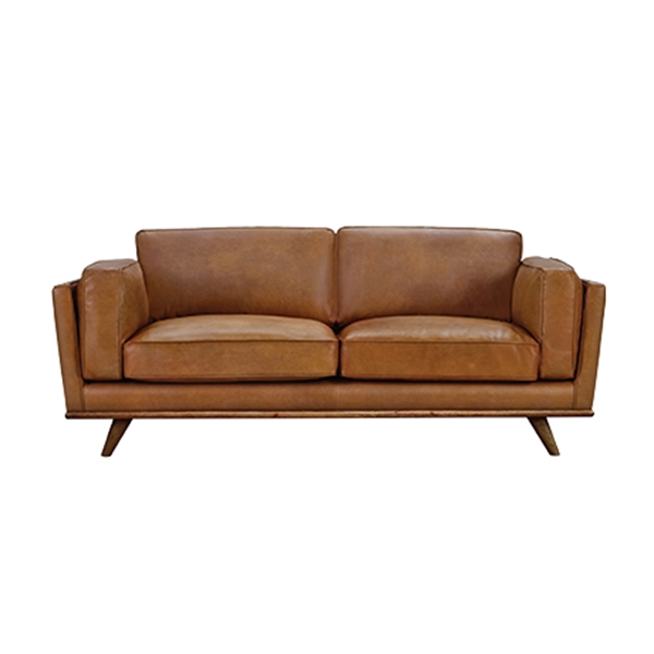 Dahlia 2.5 Seat Leather Sofa Size W 197cm x D 93cm x H 82cm in Tan Leather/Foam/Fibre Freedom by Freedom, a Sofas for sale on Style Sourcebook