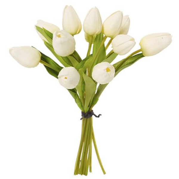 Tulip Bunch Size W 10cm x D 10cm x H 25cm in White Plastic/Wire Freedom by Freedom, a Plants for sale on Style Sourcebook