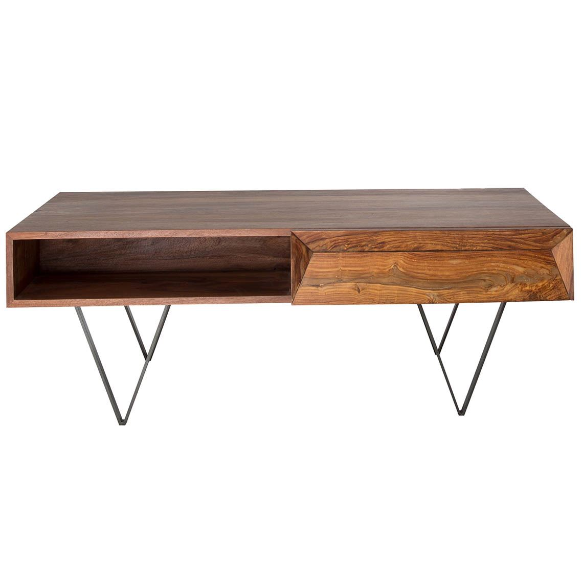 Wyatt Coffee Table Size W 60cm x D 115cm x H 40cm in Natural Sheesham Wood/Mdf/Steel Freedom by Freedom, a Coffee Table for sale on Style Sourcebook