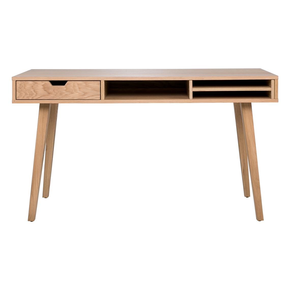 Hazel Desk Size W 140cm x D 50cm x H 77cm in Natural Oak/Wood/Oak Veneer Freedom by Freedom, a Desks for sale on Style Sourcebook