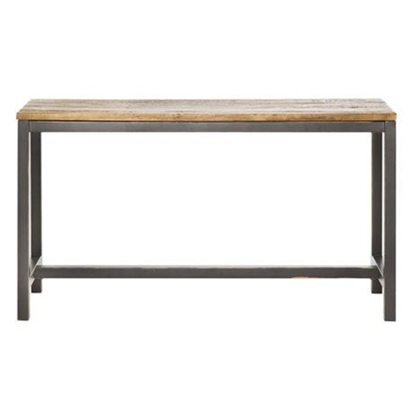 Wharf Console Size W 130cm x D 40cm x H 72cm in Natural/Black Reclaimed Elmwood/Steel Freedom by Freedom, a Console Table for sale on Style Sourcebook