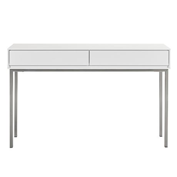 Signature Essentials (Pi) 2 Drawer Console Table Size W 120cm x D 40cm x H 75cm in White Mdf/Steel Freedom by Freedom, a Console Table for sale on Style Sourcebook