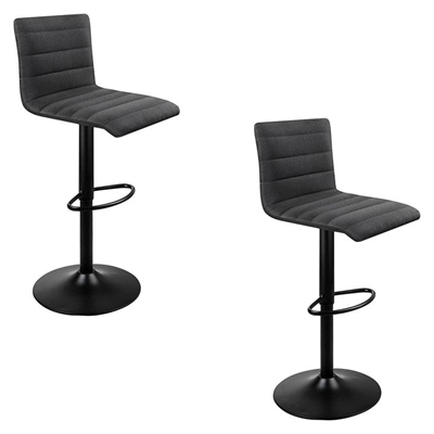 Shontelle Bar Stool, Fabric, Black (Set of 2) by Resort Living, a Bar Stools for sale on Style Sourcebook