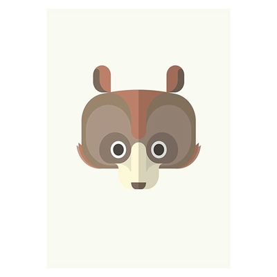 Bear Print Art by Americanflat, a Kids Prints & Wall Decor for sale on Style Sourcebook