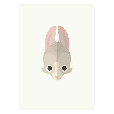 Rabbit Print Art by Americanflat, a Kids Prints & Wall Decor for sale on Style Sourcebook