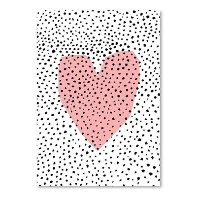 Dotty Heart Print Art by Americanflat, a Kids Prints & Wall Decor for sale on Style Sourcebook