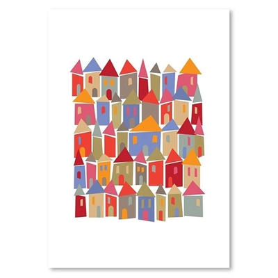 Little Houses Print Art by Americanflat, a Kids Prints & Wall Decor for sale on Style Sourcebook