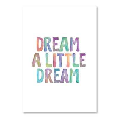 Dream a Little Dream Print Art by Americanflat, a Kids Prints & Wall Decor for sale on Style Sourcebook