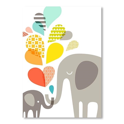 Elephants Wall Art by Americanflat, a Kids Prints & Wall Decor for sale on Style Sourcebook