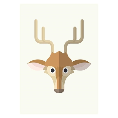 Deer Print Art by Americanflat, a Kids Prints & Wall Decor for sale on Style Sourcebook