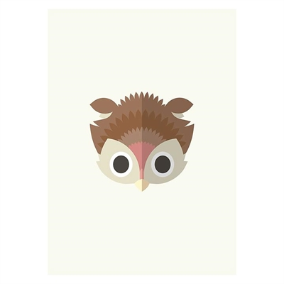 Owl Print Art by Americanflat, a Kids Prints & Wall Decor for sale on Style Sourcebook