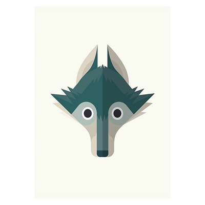 Wolf Print Art by Americanflat, a Kids Prints & Wall Decor for sale on Style Sourcebook