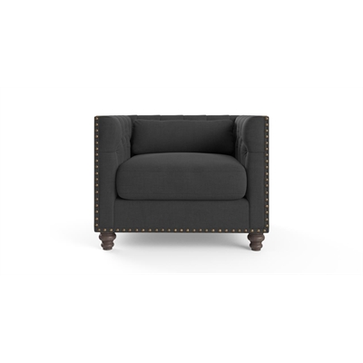 Madeline Chesterfield Armchair Night Black by Brosa, a Chairs for sale on Style Sourcebook