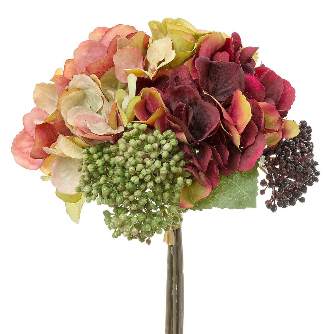 Hydrangea Bouquet Size W 20cm x D 20cm x H 28cm in Rose Plastic/Polyester/Wire Freedom by Freedom, a Plants for sale on Style Sourcebook