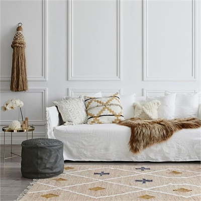 Baez Ottoman Hair On Hide Assorted Amigos De Hoy by Amigos De Hoy, a Chairs for sale on Style Sourcebook