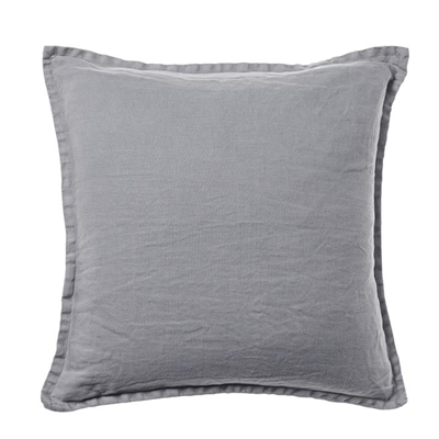 Home Republic Belgian Vintage Washed Linen Cushion Seal Grey 50x50cm - Sealgrey By Adairs by Home Republic, a Cushions, Decorative Pillows for sale on Style Sourcebook
