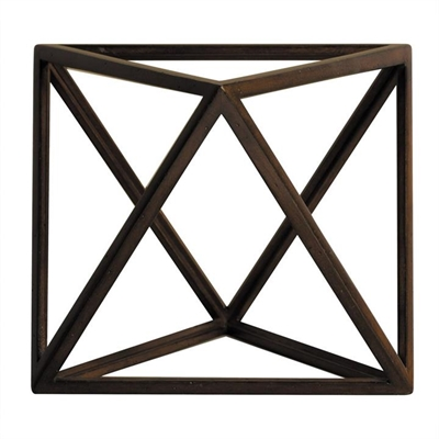 Solid Timber Platonic Octahedron Model - The Element Air by Authentic Models, a Statues & Ornaments for sale on Style Sourcebook