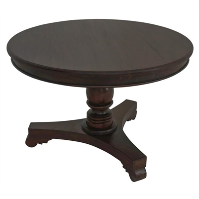 Queen Ann Mahogany Timber Round Dining Table, 120cm, Chocolate by Centrum Furniture, a Dining Tables for sale on Style Sourcebook
