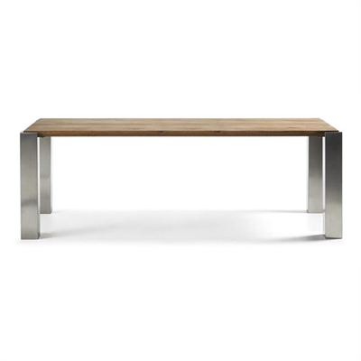 Trent Oak Timber & Stainless Steel Dining Table, 220cm by El Diseno, a Dining Tables for sale on Style Sourcebook