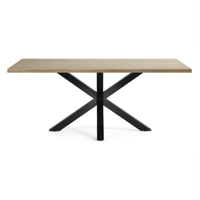 Bromley Engineered Wood & Epoxy Steel  Dining Table, 200cm, Natural / Black by El Diseno, a Dining Tables for sale on Style Sourcebook